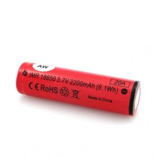 AW IMR18650 3.7V 2200mAh Battery
