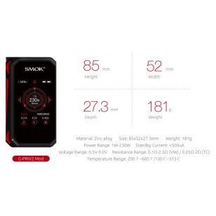 SMOK G-PRIV 2 230W TC TOUCH SCREEN FULL KIT